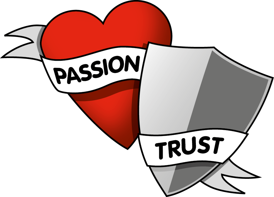 Logo: When passion meets trust